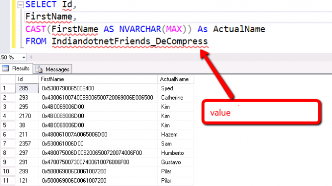 Decompress & Compress function